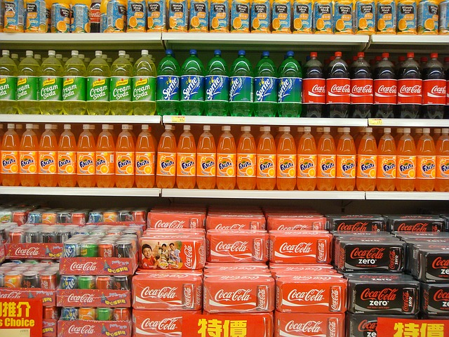 juices and carbonated drinks